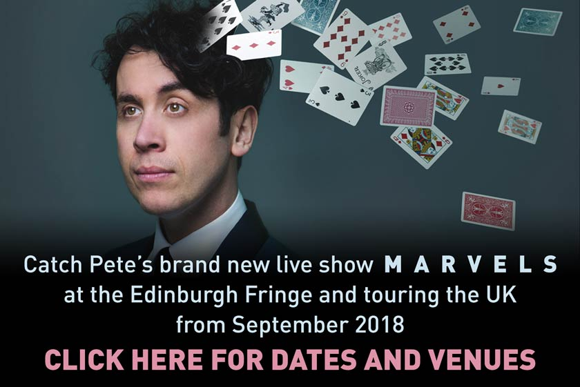 Pete Firman Marvels Tour 2018