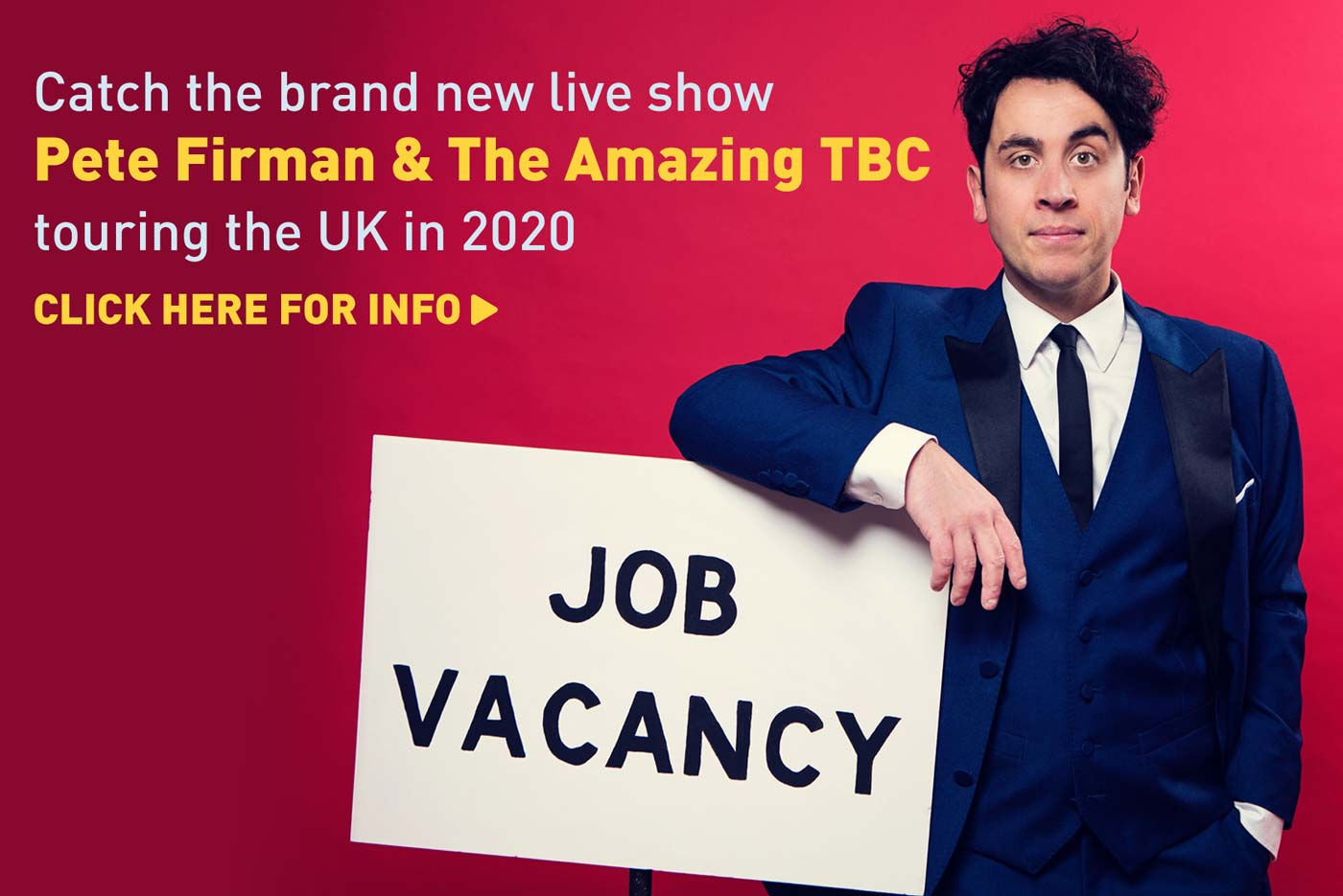 Pete Firman TBC Tour 2020